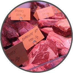 Bild på kött i köttdisk