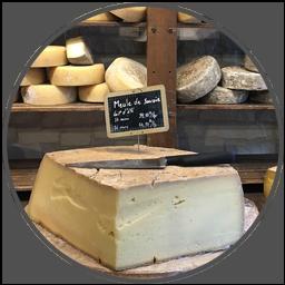 Bild på ost i affär