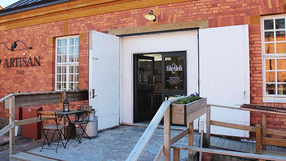 Bild på entrén till Filé och Deli.